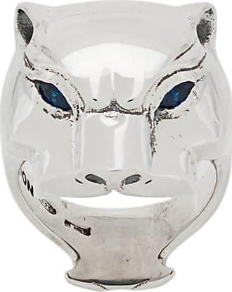 Nove25 Anel Panther de prata - Prateado