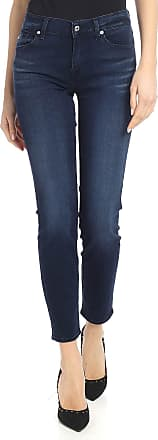 7 For All Mankind Roxanne crop jeans in blue