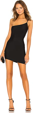 Superdown Rumer Asymmetrical Mini Dress in Black
