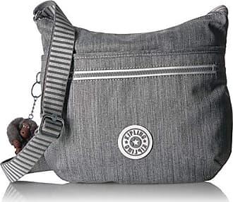 Kipling Arto Crossbody, Adjustable Shoulder Strap, Zip Closure, grey weave