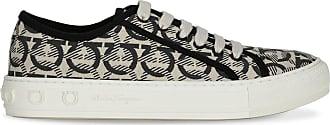 Salvatore Ferragamo Wimbledon beige and black sneaker