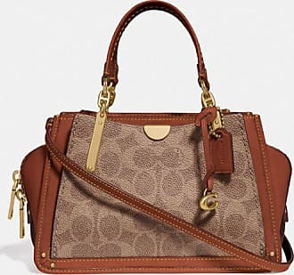 Coach Dreamer 21 In Signature Canvas in Beige/Brown