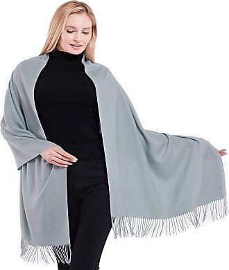 CJ Apparel Thick Solid Colour Design Cotton Blend Shawl Scarf Wrap Pashmina Seconds NEW, One Size, Silver Grey Pantone 442