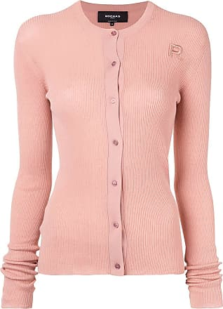Rochas Cardigan de tricô canelado - Rosa