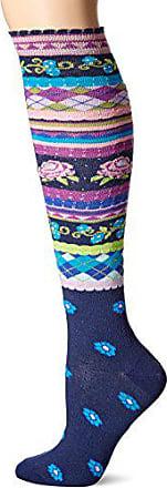 Ozone Womens Garden Party Knee High Sock, Navy, 9-11