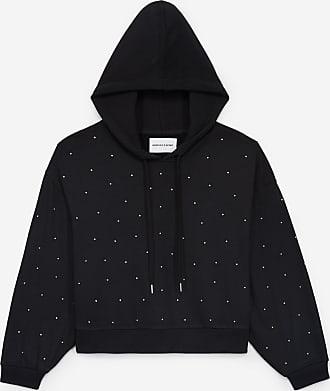 The Kooples Black hoodie with rhinestones all over - WOMEN
