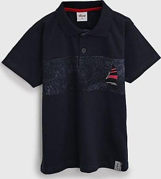 Elian Camisa Polo Elian Infantil Estampada Azul-Marinho