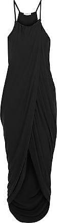 Joie Joie Woman Serlina Split-front Draped Stretch-jersey Midi Dress Black Size XXS