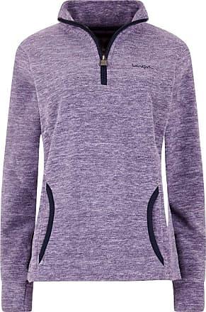 Weird Fish Nancy 1/4 Zip Melange Fleece Sweatshirt Purple Magic Size 16