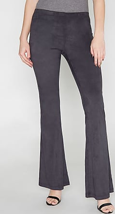 Alloy Apparel Tall Elana Stretch Suede Pants for Women Black Size S/37