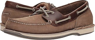 Rockport Mens Perth Shoe, Taupe Nubuck/Beeswax Leather, 7 M US