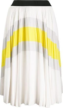 Karl Lagerfeld Saia color block com pregas - Branco