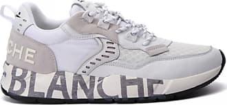 Voile Blanche Weiße Herren Sneakers aus Leder und Nylon - 41 | white - White/White
