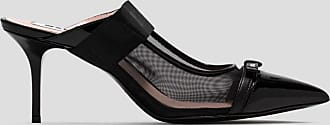 Msgm leather mules with bow