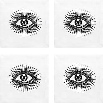 Jonathan Adler Cocktail Napkin - Set of 4 - Eyes
