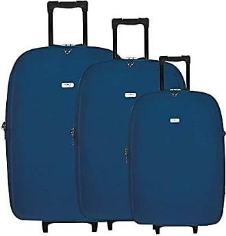 Yin's Conjunto de Malas de Viagem P/M/G c/Carrinho Azul YS22006A