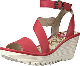 feb21417f1d FLY London Womens Yesk Platform Sandal Scarlet Mousse 39 EU 8-8.5 M US