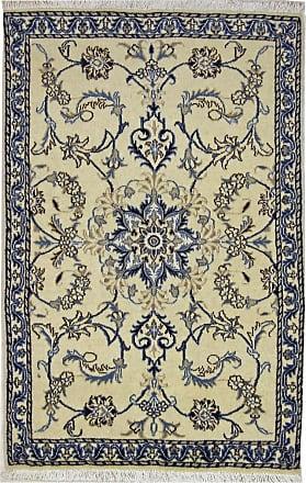 Nain Trading 136x88 Oriental Nain Rug Dark Grey/Beige (Wool/Silk, Iran/Persia, Hand-Knotted)
