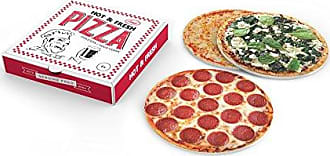 Fred Perry 5228954 HOT & FRESH PIZZA Paperboard Beverage Coasters, regular, Assorted