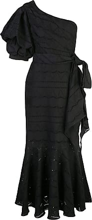 Johanna Ortiz one shoulder midi dress - Preto