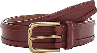 Cole Haan Mens 32 mm Burnished Edge Milled Egyptian Cow Belt