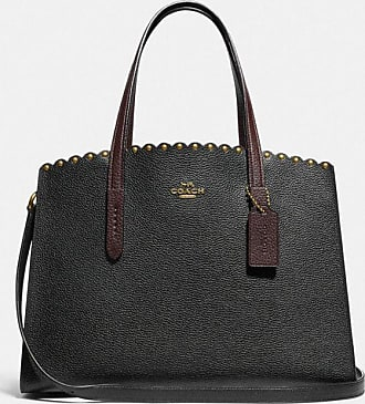 Coach Charlie Carryall With Scallop Rivets in Black