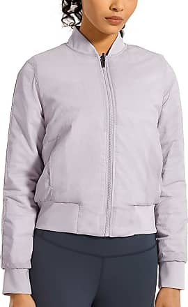 CRZ YOGA Womens Winter Coats Full Zip Lightweight Warm Packable Jacket Outerwear with Pockets Gulf Fog 14