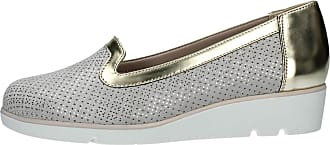 Valleverde 45152 Moccasins Shoes Slip on Woman in Platinum Leather
