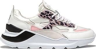 D.A.T.E. fuga satin leopard white-pink