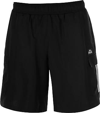 Lonsdale Mens Cargo Shorts Woven Pants Trousers Bottoms Lightweight Mesh Black XXXXL