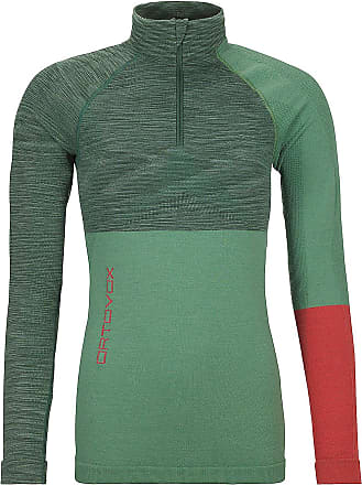 Ortovox Merino Comp Zip Neck Tech Tee LS green isar blend