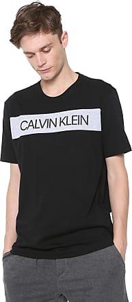 Calvin Klein Underwear Camiseta Calvin Klein Underwear Lettering Preta