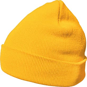 DonDon winter hat beanie warm classical design modern and soft yellow