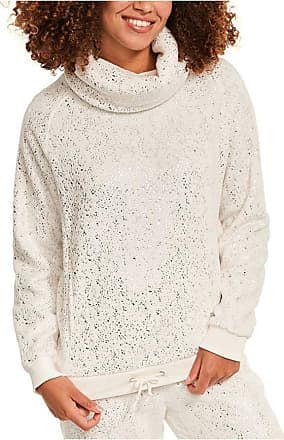 Figleaves Womens Cosy Foil Cowl Neck Top Size 14 in Ivory