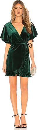 BB Dakota JACK by BB Dakota West Village Velvet Dress in Green