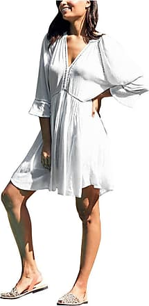Figleaves Womens Kaftan Ladder Dress Size Large in White