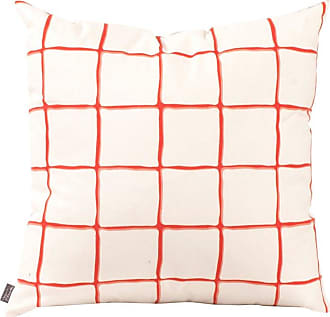 Elizabeth Austin Milan Lattice Decorative Pillow White/Orange - 2-631