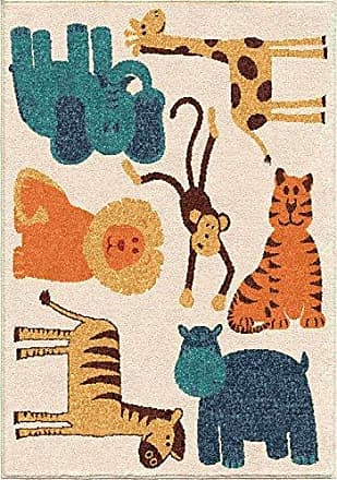 Orian Rugs Kids Court Safari Area Rug, 310 x 52, Ivory