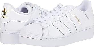 adidas Originals Superstar Bold - Platform (Footwear White/Footwear White/Gold Metallic) Womens Classic Shoes