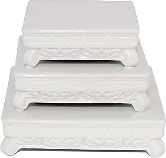 Three Hands 48595 - Pedestal Set of 3 - White