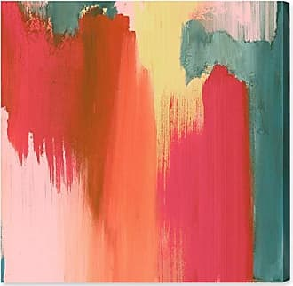 The Oliver Gal Artist Co. Oliver Gal Cuba De Ayer | Premium Canvas Print. the Abstract Wall Art Decor Collection by Oliver Gal Gallery Wrapped, 12 x 12, Orange