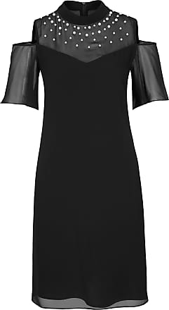 Comma kleid schwarz punkte