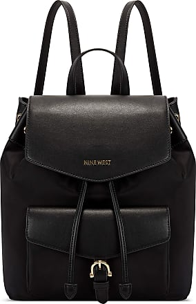 Nine West Womens Nala Backpack, Black, Large