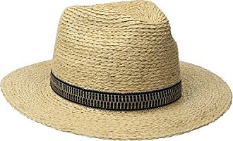 Brixton Mens Tyler Fedora Hat, Tan, Large