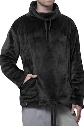 Heat Holders Mens SockShop Snugover Fleece Jumper in Black Small/Medium Black