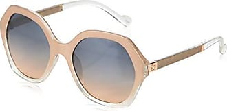 Jessica Simpson Womens J5656 Ndx Non-Polarized Iridium Round Sunglasses, Nude Crystal, 68 mm