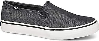 Keds Womens Double Decker Simmer Chambray Sneaker, Black, 7 M US