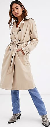 Pimkie tie waist trench coat in beige