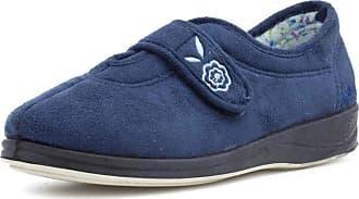 Padders Womens Blue Memory Foam Slipper - Size 3 UK - Blue