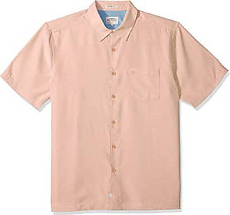 Quiksilver Waterman Mens Centinela 4 Button Down Shirt, Dusty Coral, S